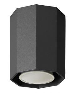 Lampa sufitowa Okta 10 czarna tuba 1xGU10 Metal styl nowoczesny Lampex