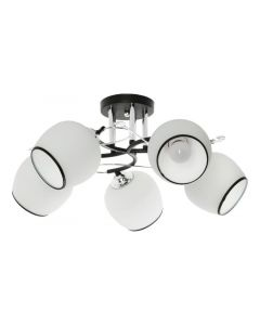 Żyrandol Asumi 5 5xE27  czarny srebrny Metal i szkło styl nowoczesny Lampex