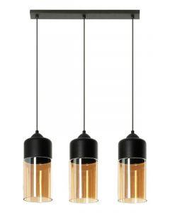 Lampa wisząca Koral 3 3xE27 Metal i szkło Lampex