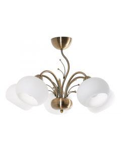 Żyrandol Madison 5 Złoty 5xE27 Metal i szkło styl nowoczesny Lampex