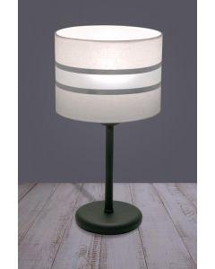 Lampa stołowa Biurkowa Fabio Biała 1x E27 Metal i PCV Lampex styl nowoczesny