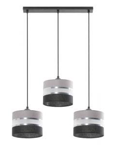 Lampa wisząca Donato 3L 3x E27 Metal i PCV Lampex abażur styl nowoczesny