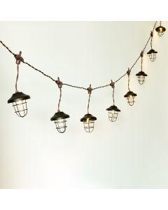 GIRLANDA SOLARNA 10x latarenka metalowa 4,5m ogrodowa ozdobna dekoracyjna 3000K ciepła