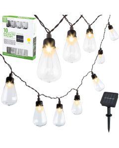 GIRLANDA SOLARNA 10 Edison LED 3,6m ogrodowa ozdobna dekoracyjna 3000K ciepła