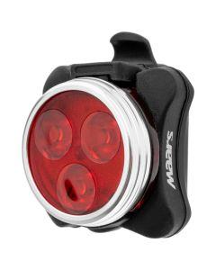 Latarka lampka rowerowa TYŁ MS B301 3x LED 4 tryby świecenia