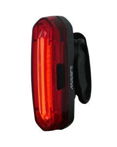 Latarka lampka rowerowa TYŁ MS B201 LED COB 2W 3 tryby świecenia