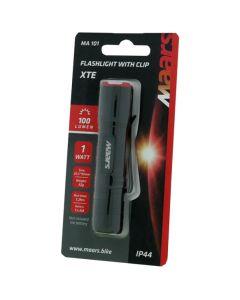 MINI latarka ręczna z klipsem MA 101 LED XTE na baterie 3 tryby świecenia