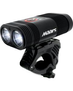 Wielofunkcyjna latarka lampka rowerowa MR 701 5W 2xLED IP65 5 trybów świecenia