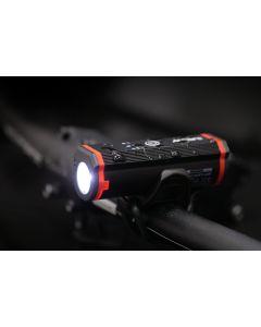 Wielofunkcyjna latarka lampka rowerowa MS 601 5W LED IP65 5 trybów świecenia