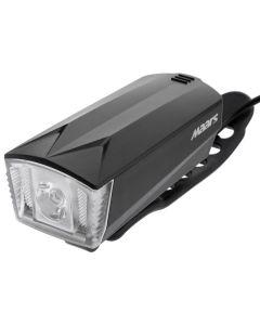 Latarka lampka rowerowa MS B501 LED XPE z klaksonem 3W 5 trybów świecenia