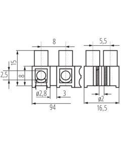 Złączka Przyłączeniowa Dwunastotorowa 2,5mm H-2.5MM2 PE MI N Kanlux