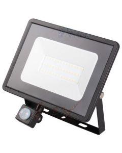 Naświetlacz LED GRUN V2 Czarny 30W 2300lm 4000K Neutralna IP44 Czujnik Ruchu Kanlux