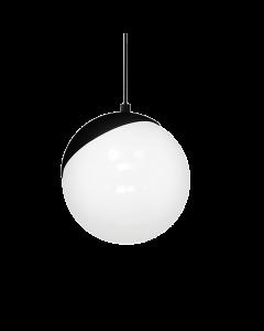 Lampa wisząca SFERA 1xE27 60W Biała Kula Czarne Detale MLP5739 Milagro Metal + Szkło