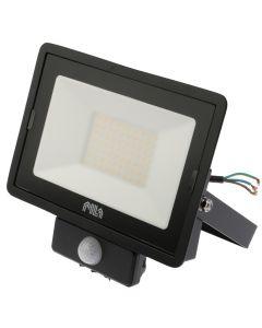 Naświetlacz LED HALOGEN 50W 4000K 4250lm IP65 MDU BVP007 PILA Czujnik ruchu