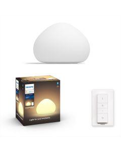 Philips HUE Wellner Lampa biurkowa Stołowa Biała 1x8,5W ZigBee + Bluetooth 44401/56/P6