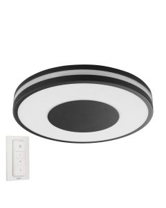 Philips HUE Being Ceiling Lampa sufitowa Czarna 1x27W ZigBee + Bluetooth 32610/30/P6