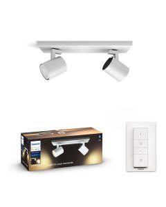 Philips HUE RUNNER Oprawa 2xReflektor SPOT LED Biały 2xGU10 + Ściemniacz ZigBee + Bluetooth 53092/31/P6