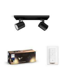 Philips HUE RUNNER Oprawa 2xReflektor SPOT LED Czarny 2xGU10 + Ściemniacz ZigBee + Bluetooth 53092/30/P6