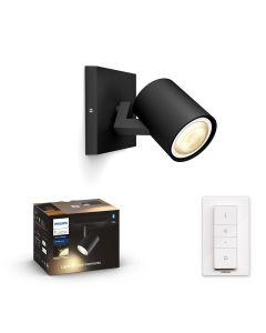 Philips HUE RUNNER Oprawa sufitowa Reflektor SPOT LED Punktowy Czarny GU10 + Ściemniacz ZigBee + Bluetooth 53090/30/P6