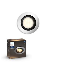 Philips HUE Milliskin Sufitowa Oprawa punktowa okrągła GU10 5.5W Srebrna ZigBee + Bluetooth 50411/48/P9