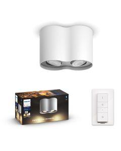 Philips HUE PILLAR 2x Reflektor LED Punktowy Biały GU10 + Ściemniacz ZigBee + Bluetooth 56332/31/P6