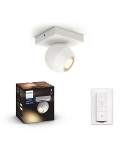 Philips HUE Buckram Reflektor SPOT LED Punktowy Biały GU10 + Ściemniacz ZigBee + Bluetooth 50471/31/P6