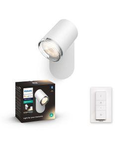Philips HUE Adore Łazienkowy Reflektor SPOT Punktowy GU10 Biały + Ściemniacz ZigBee + Bluetooth 34178/31/P6