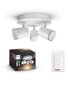 Philips HUE Adore Łazienkowy Reflektor Punktowy 3xGU10 Biały + Ściemniacz ZigBee + Bluetooth 34181/31/P6