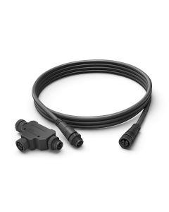 Philips HUE Zewnętrzny kabel przedłużający IP67 Czarny 2,5m 1748930PN