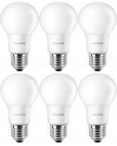 Zestaw 6x PHILIPS Żarówka LED E27 8,5W 806lm = 60W Ciepła 2700K