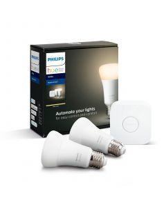 Philips HUE White Zestaw Startowy A60 2-PAK + Mostek Bluetooth Zigbee 8718696785218