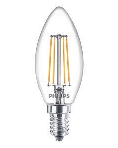 Żarówka ŚWIECA LED B35 E14 4,3W = 40W 470lm FILAMENT PHILIPS 2700K