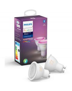 2PAK Żarówka LED GU10 5,7W Philips HUE White and Color Ambiance  Bluetooth Zigbee 8718699629250