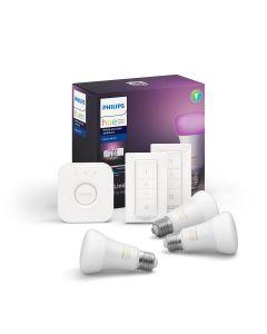 Philips HUE White and color ambiance Zestaw 3x Żarówka LED E27 9W Mostek 2x Ściemniacz ZigBee + Bluetooth 8718699696917