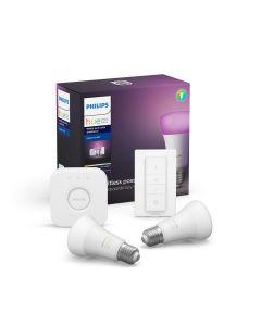 Philips HUE White and color ambiance Zestaw 2x Żarówka LED E27 9W Mostek Ściemniacz ZigBee + Bluetooth 8718699701352