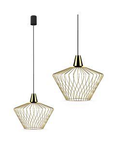 Lampa wisząca NOWODVORSKI E27 Druciana Minimalistyczna 8861 WAVE S Złota Stal Śr. 40 cm