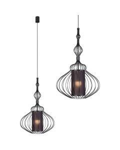 Lampa wisząca NOWODVORSKI E27 Druciana Nowoczesna 8866 ABI M Czarna Stal Śr. 40 cm