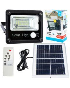 Naświetlacz Lampa ogrodowa solarna LED 20W 1500lm 6000-6500K z czujnikiem ruchu IP54