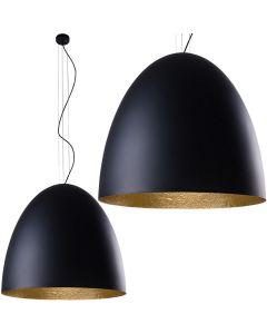 Lampa wisząca sufitowa tuba NOWODVORSKI 5xE27 9024 EGG L Czarna Złota Stal Śr. 55 cm