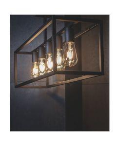 Lampa sufitowa NOWODVORSKI E27 Klatka Loft 9045 CRATE Czarna Stal