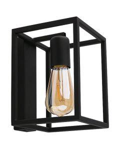 Lampa ścienna NOWODVORSKI E27 Klatka Loft 9046 CRATE Czarna Stal