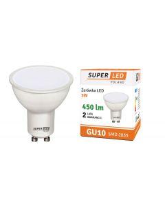 Żarówka LED 5W GU10 450lm neutralna 1366 halogen SUPERLED