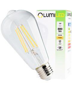 Żarówka LED E27 Edison ST64 FILAMENT 8W = 65W 880lm LUMILED Ciepła 3000K 360°