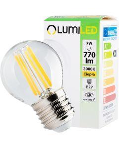 Żarówka LED KULKA E27 FILAMENT 7W = 60W 770lm LUMILED Ciepła 3000K 360°