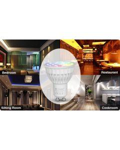 Żarówka LED GU10 4W 280lm RGB+CCT Wi-Fi Mi-Light - FUT103