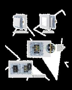 ŁĄCZNIK włącznik SIMON 10 KREMOWY schodowy podwójny CW6/2.01/41