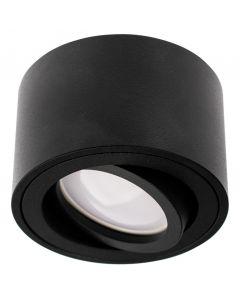 Oprawa Natynkowa HALOGENOWA Ruchoma AMAT-S Okrągła Czarna 50mm + Wkład LED 7W