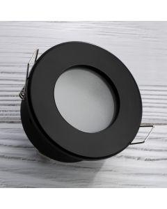 Zestaw Oprawa HALOGENOWA AQUS Czarna IP44 + LED GU10 5W Neutralna Barwa - PODBITKA