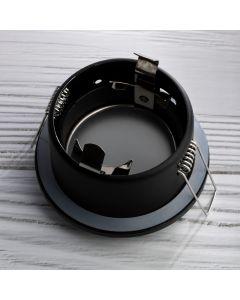 Zestaw Oprawa HALOGENOWA AQUS Czarna IP44 + LED GU10 3W Ciepła Barwa - PODBITKA
