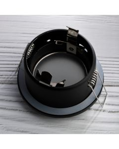Zestaw Oprawa HALOGENOWA AQUS Czarna IP44 + LED GU10 8W Neutralna Barwa